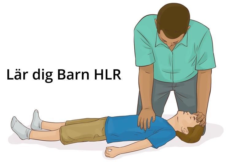 Barn HLR utbildning - Handplacering vid HLR på barn - Illustration: Wasim Hentati tel. 070-2736853 - HLR Experten