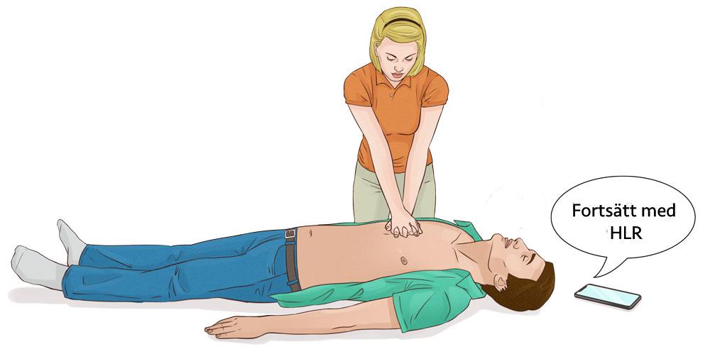Larma 112, hjärt och lungräddning, HLR utbildning, HLR kurs