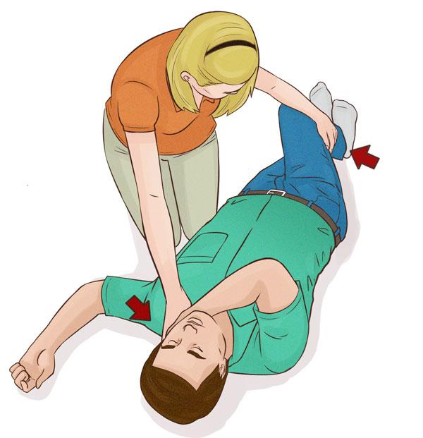 stabilt sidoläge, hur gör man hjärt och lungräddning, HLR utbildning, HLR kurs